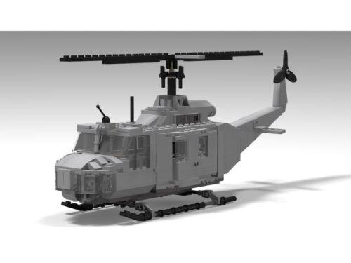 Lego Huey INSTRUCTIONS ONLY customizable Vietnam War aircraft model