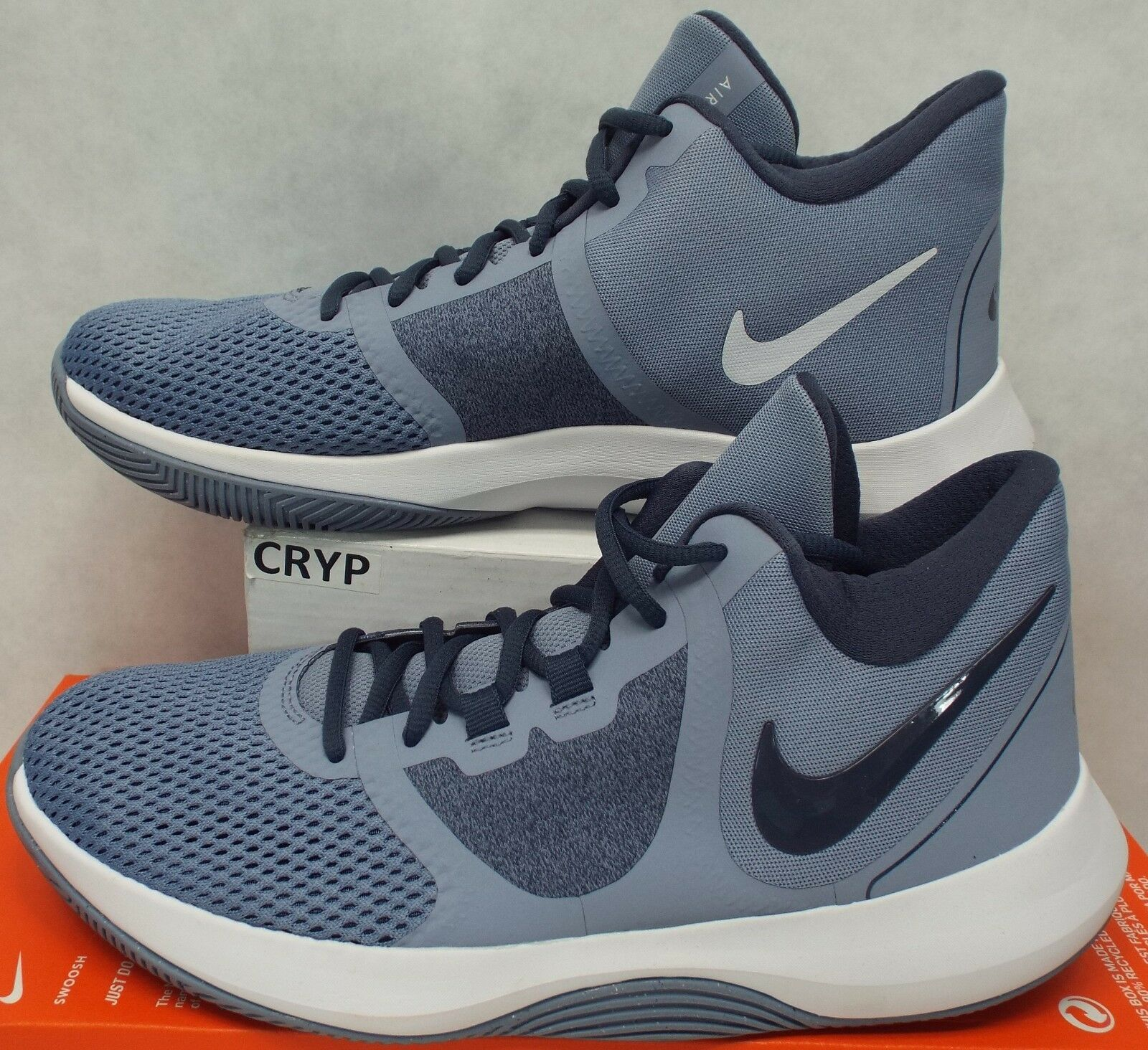 New Mens 9 NIKE Precision 2 Running Grey Running Shoes 100 AA7069-400