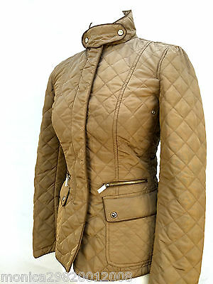 ZARA WOMAN BEIGE QUILTED JACKET SIZE XS RRP £69.99