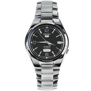Seiko-5-Automatic-Black-Dial-Silver-Stainless-Steel-Mens-Watch-SNK623K1-RRP-169