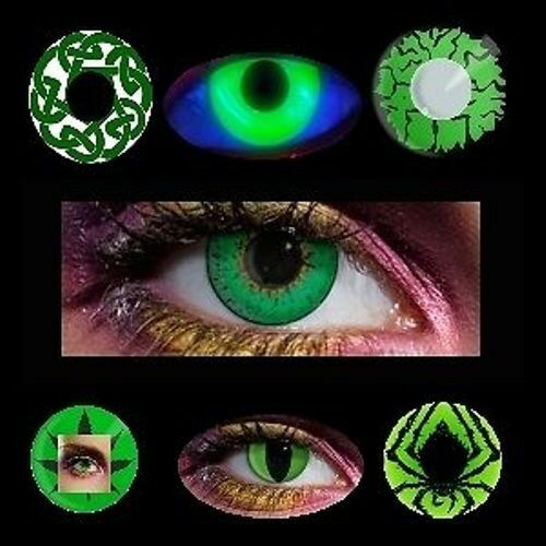 farbige Kontaktlinsen grün Linsen grüne vampire halloween lens party contact neu