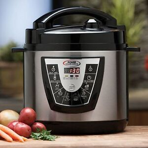 Details about Stainless Steel 10 quart Electric Power Pressure Cooker XL as  seen TV NEW