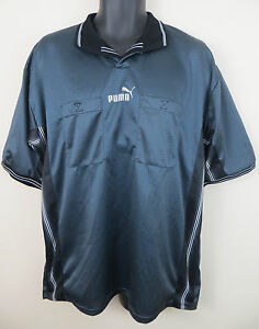 0feb9b2140a Image is loading Puma-Retro-Referee-Football-Shirt-Soccer-Jersey-Grey-