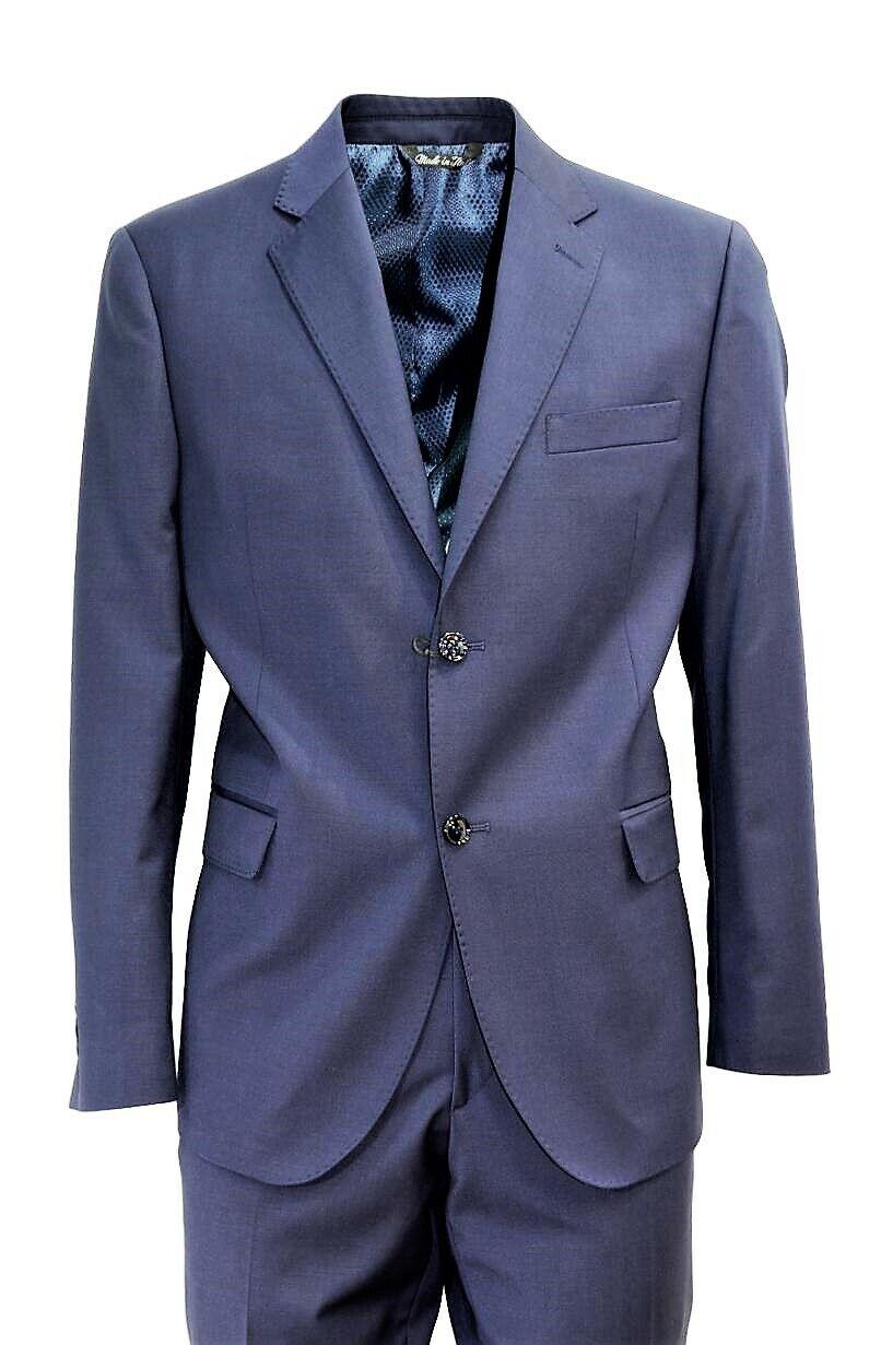 ALESSANDRO GILLES MEN'S SUIT MADE IN ITALY ART. DP4C 0162 blueE drop 4c