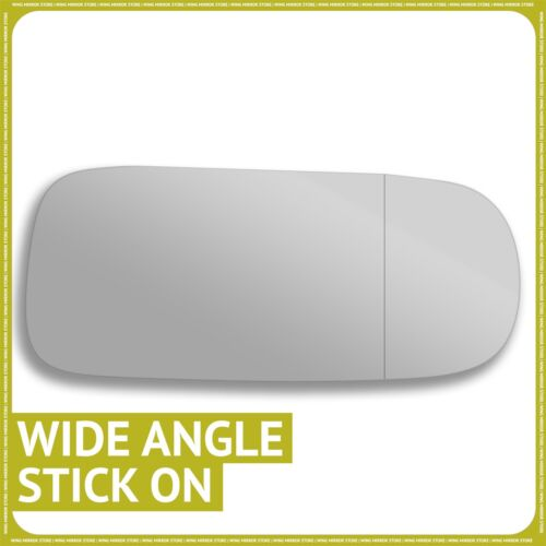 Right hand Driver side for Jaguar XK 96-05 wing mirror glass Wide Angle