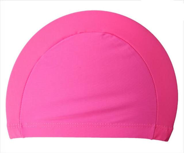 Easy Fit Adult Swimming Hat Cap Swim Mens Womens Nylon Spandex Fabric Hot