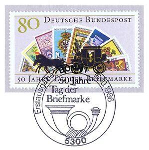 BRD-1986-Tag-der-Briefmarke-Nr-1300-mit-Bonner-Ersttags-Sonderstempel-1A-1606