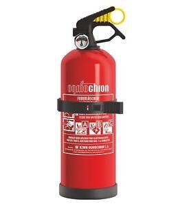 Autofeuerloescher-GP-1x-ABC-1kg-mit-Halterung-Manometer-Kfz-Feuerloescher