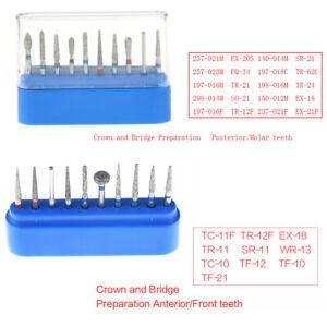 AZDENT Dental Diamond Burs FG Molar Teeth Drills Set For High Speed Handpiece