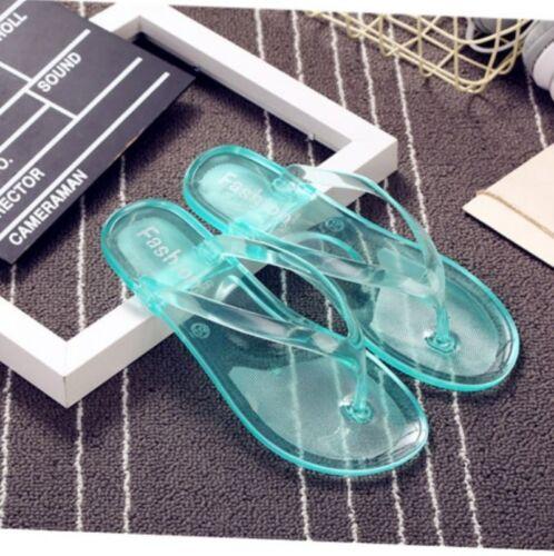 New Womens Flip Flops Beach Sandals Shoes Flip Flops Flat Heel Summer Jelly