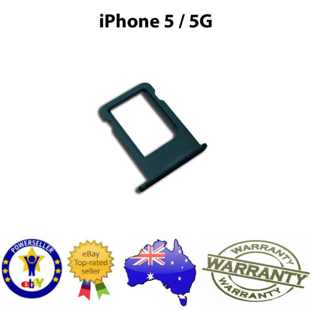 Nano Sim Card Tray Slot Holder Replacement Part BLACK for iPhone 5