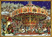 Weihnachts-Karussell Viktorianischer Adventskalender mit Silberglimmer No.780