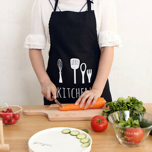 New Men Women Solid Cooking Kitchen Restaurant Bib Apron Dress BBQ Party Aprons
