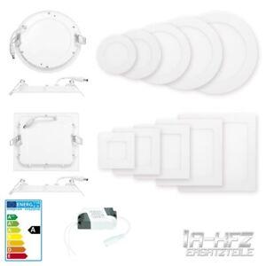 10-x-LED-Panel-Einbaustrahler-Deckenleuchte-Deckenlampe-Einbauleuchte-Ultraslim