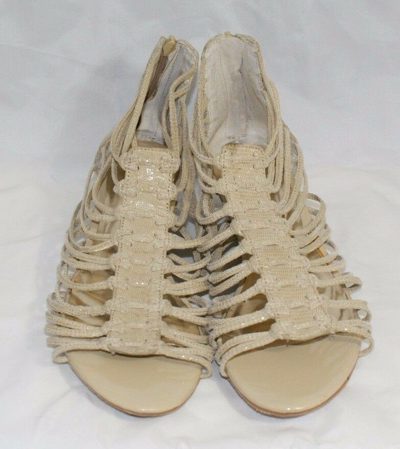 INC International Concepts Rory Women's Size 9 Tan Gladiator Wedge Sandals shoes