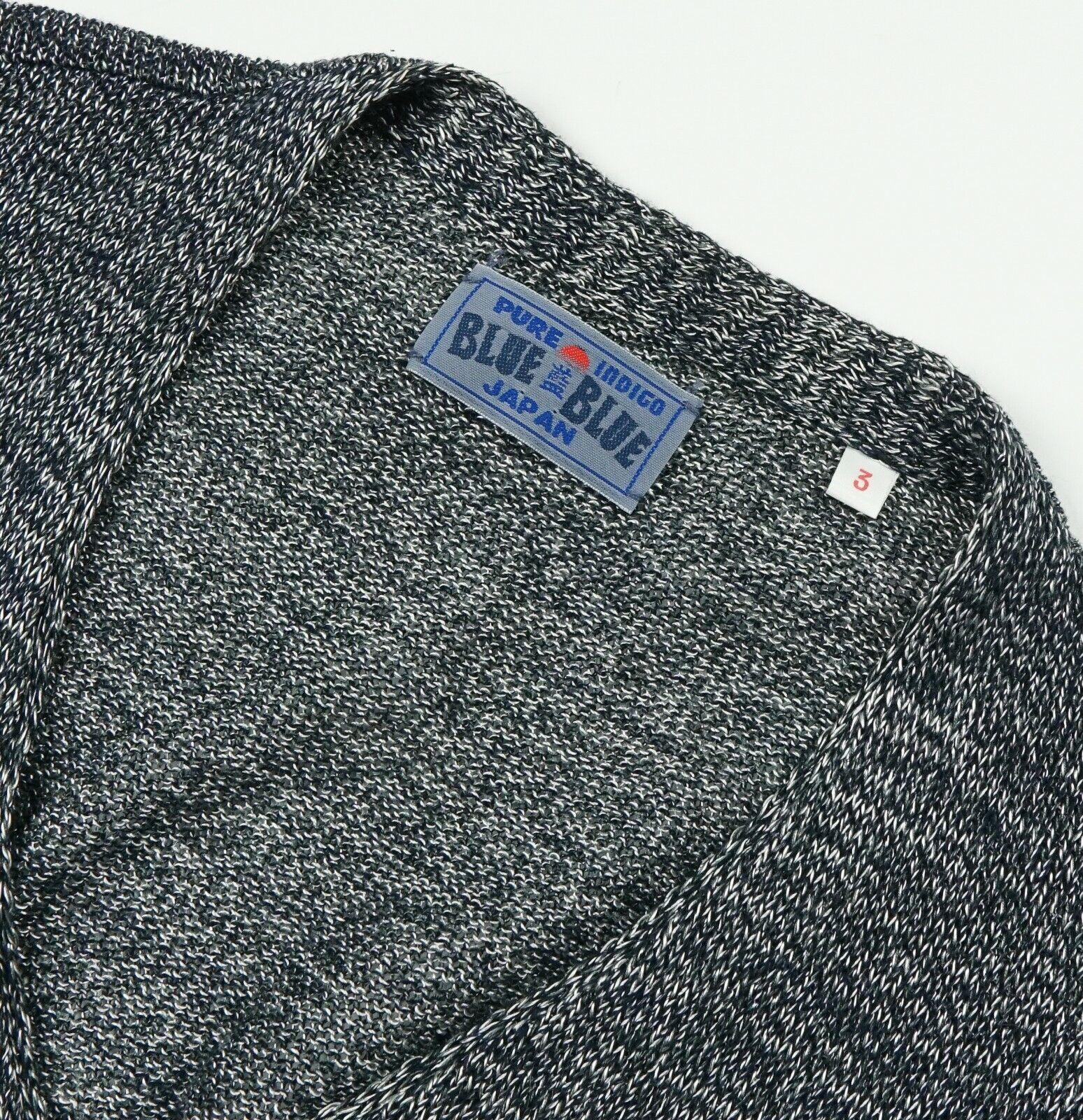 Blue Blue Japan Cotton Rayon Pure Indigo Knit Car… - image 2
