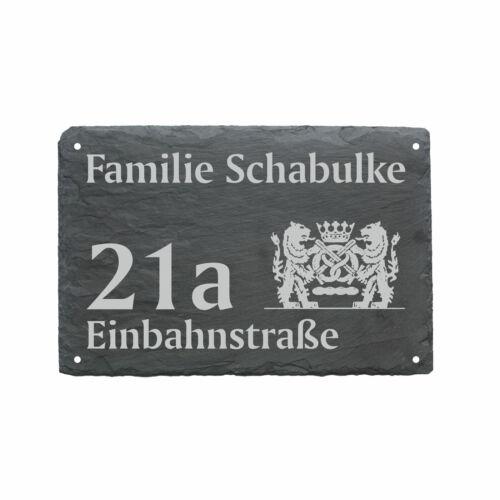 Straße Schieferschild wetterfest Bäckerei Hausnummer Türschild « BÄCKER » Name