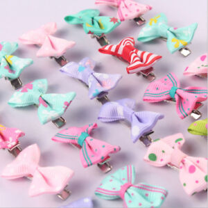 40X Boutique Hair Bows Girls Kids Alligator Clip Grosgrain Ribbon Hair Clips  S*