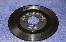Santo & Johnny 1960 Canadian American 45rpm Love Lost b/w Annie Hawaiian Steel