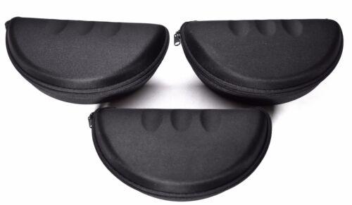 LOT OF 3 Black Zipper Eyeglass//Glasses Hard Case />NEW/<