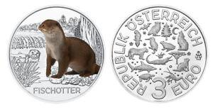 #rm# 3 Euro CommÉmorative Autriche 2019 - Otter Et Aide à La Digestion
