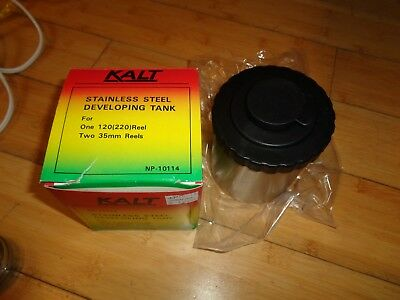 Expresivo Kalt Stainless Steel Developing Tank Np-10114 & Lot Of 4 Ss Reels For 35mm