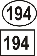 2 X Designed House Office Sign Door Numbers  Self Adhesive Vinyl Decals Sticker