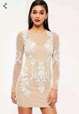 42fd9726 item 4 Missguided premium nude embellished bodycon dress Size 8 BNWT  RRP£120 -Missguided premium nude embellished bodycon dress Size 8 BNWT  RRP£120