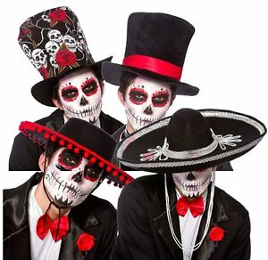 La imagen se está cargando Halloween-Dia-De-Muertos-Mexicano-sombreros -Zombie-Azucar- aec4803e619