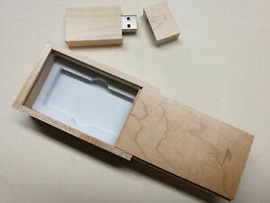 Details zu USB Stick Holz 16/32 GB in schicker Box mit Wunsch Gravur -  Hochzeit Fotos Video