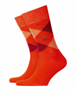 BURLINGTON-Men-039-s-Socks-Manchester-Neon-Orange
