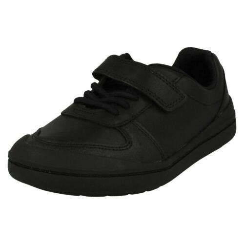 Boys Clarks Smart Hook /& Loop Leather /& Synthetic School Shoes Rock Verve K
