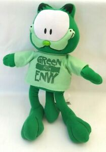 Bensons Garfield Cat Green With Envy T shirt Soft Plush Toy 34CM  eBay