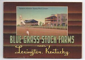 1930s Horse Racing Color Booklet of Blue Grass Stock Farms Lexington Kentucky
