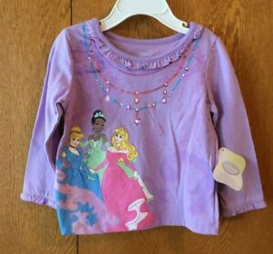 Infant-Girls-Disney-PRINCESS-Long-Sleeve-Tee-Size-18M-Lt-Purple