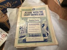 Jeanie with the Light Brown Hair, Stephen Foster, Arr. by Walter Rolfe, 3 pages