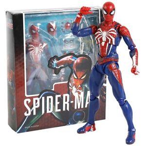 SHF-Spiderman-ps4-Advanced-Anzug-PVC-Action-Figur-Sammlerstueck-Modell-Spielzeug