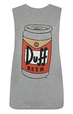 Primark Official Ladies THE SIMPSONS DUFF BEER T Shirt VEST TOP