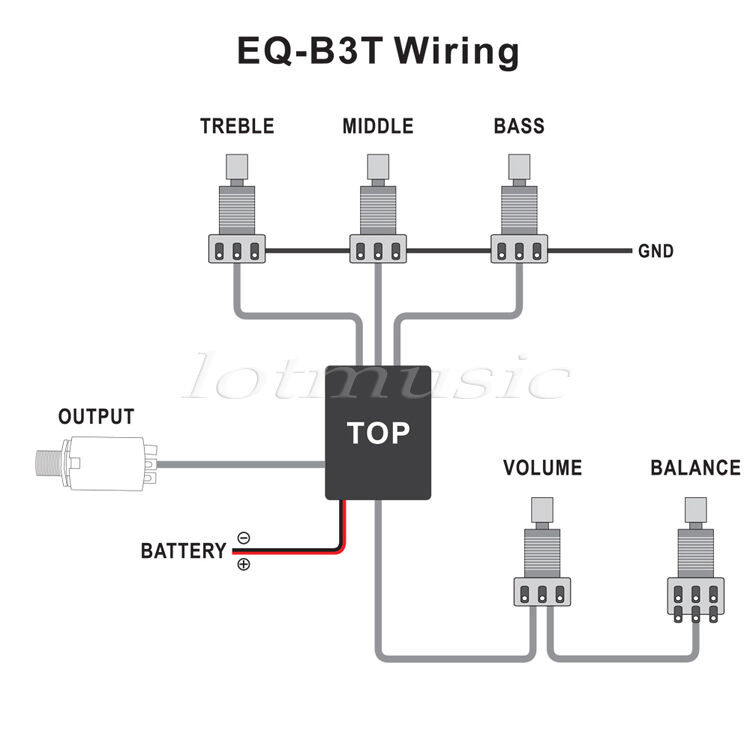 2 Sets Belcat Active EQ Wiring Harness Bass Guitar EQB3T Preamp