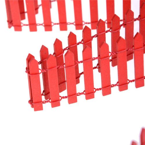 100*5cm Miniature Fairy Garden Wood Fence Doll House DIY Accessories Decor UK