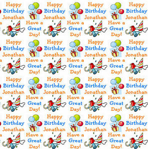 Image Is Loading Personalised Birthday Gift Wrapping Paper 16th 18th 21st