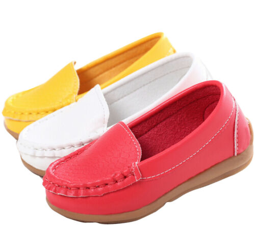 Baby Toddler Girls Slip on Moccasin Boat Shoes Prewalk Flats Loafers Pea Oxfords