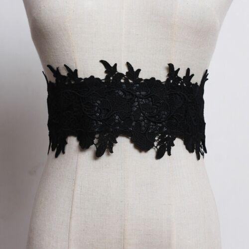 Lady Lace Elastic Belt Waistband Corset Gothic Lolita Floral Bridal Wedding Chic