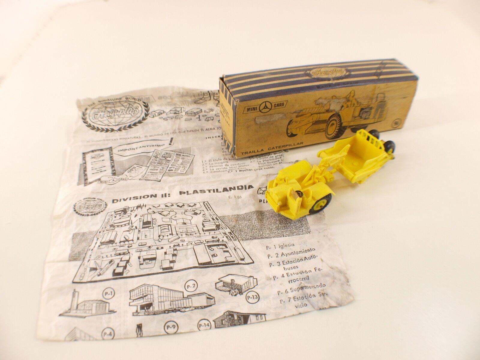 Anguplas Mini Cars N°4 • Trailla Caterpillar • Espagne •  1 86 en boite   boxed