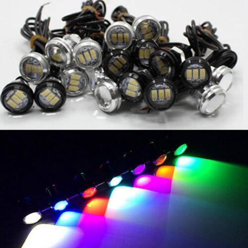 2//10x 10W LED Eagle Eye Lamp Auto Tail DRL 23MM Backup Reverse Turn Signal 12V