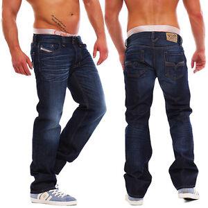 Diesel-vaqueros-Larkee-0073n-Pantalones-de-hombre-Regular-Recto-Azul-Oscuro