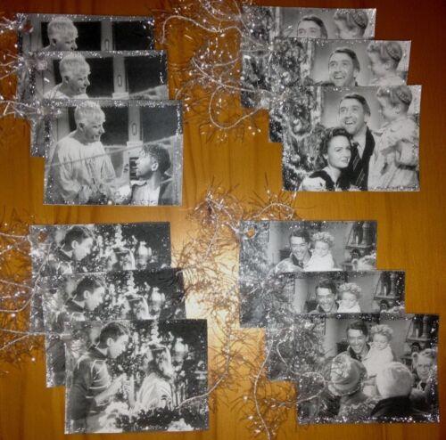 12 Handmade It/'s A Wonderful Life Movie Christmas Gift Hang Tags Glittered