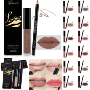 Pro-Matte-Lipstick-Lip-Liquid-Pencil-Gloss-Liner-Makeup-Long-Lasting-Waterproof