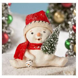 Bethany-Lowe-Little-Jolly-Glitter-Snowman-Christmas-Retro-Vntg-Decor-Figurine