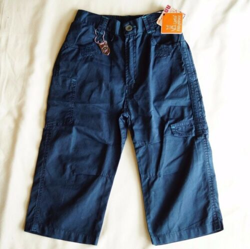 Little kangaroos Boys 34 Pants Blue Elasticback Waist Size 7 NEW